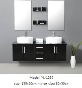 Double Sink Bathroom Furniture with MDF Veneer pictures & photos