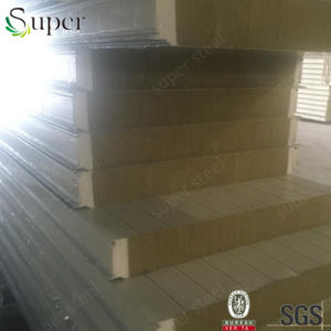 Fireproof Insulated Wall and Roof Rockwool Sandwich Panel pictures & photos