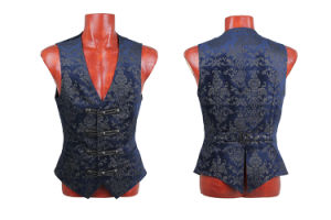 Fancy Colorful Western Style Waistcoat Vests for Men (Y-452/BK-BL) pictures & photos