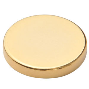 N40 Permanent Neodymium Disc Magnet with Gold Plating pictures & photos