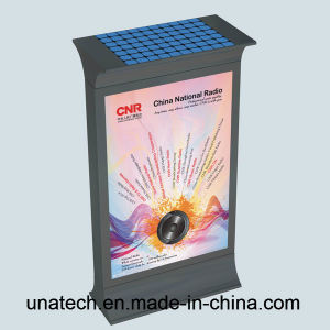 Street Advertising Aluminium Frame Scrolling Billboard Outdoor Solar Battery LED Back Light Box pictures & photos