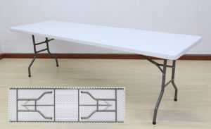 Modern Rectangular Plastic Folding Dining Meeting Banquet Table (SY-240C) pictures & photos