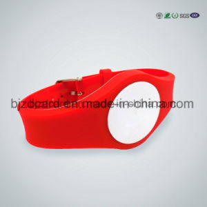 UV Color Changed Transparent Silicone Wristband pictures & photos
