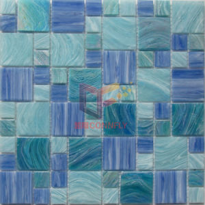Mix Color Crystal Glass Pool Mosaic Tile (CSJ121) pictures & photos