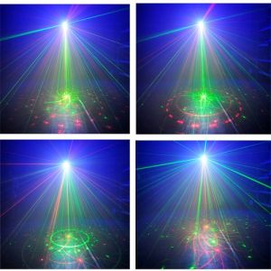 L6408rrgg Mini Laser Light 300MW Rgrg 8gobos and 3W Blue LED Light with Remote Control pictures & photos