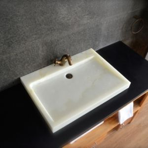 Modern White Onyx Bathroom Sink Basin pictures & photos