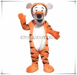 Jumping Tiger Mascot From Winnie Pooh Cartoon Character Movie