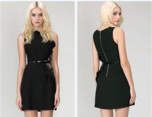 2016 Factory Wholesale Fashion Black Mini Women′s Dress pictures & photos