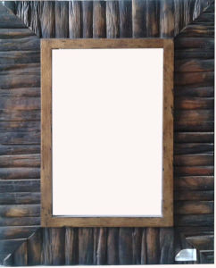 Wooden Frame Mirror with Antique Black (LH-401552) pictures & photos