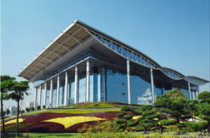 Steel Structure Space Truss Inspection Service Center with Glass Curtain pictures & photos