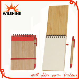 Spiral Hardcover Notebook with Bamboo Pen for School Stationery (BNB374) pictures & photos