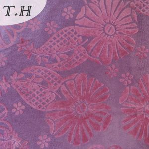 New Style Flocked Curtain Fabric pictures & photos