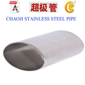 SUS 304, 316 Stainless Steel Oval Tube pictures & photos
