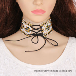 New Fashion Jewelry Cloth Embroidery Women Choker Necklace pictures & photos