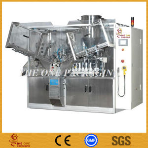 Automatic Cream Tube Filling and Sealing Machine with Hopper