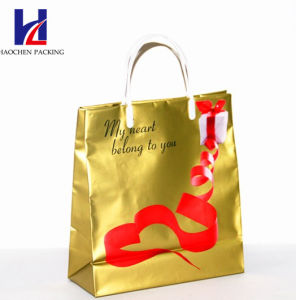 Golden Non-Woven Handheld Shopping Bag pictures & photos