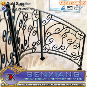 Outdoor Iron Staircase Steel Handrail of Staircase Metal Staircase pictures & photos