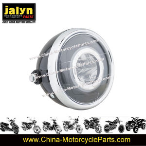 Jalyn Motorcycle Parts LED Motorcycle Head Light with Angel Eye for HS100 pictures & photos