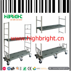 Japanese Style Heavy Duty Cargo Trolley with HDPE Board Shelf pictures & photos