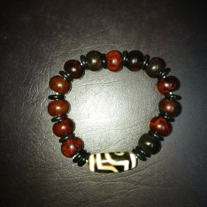 Semi Precious Stone Agate Buddha Muslim Beaded Bracelet pictures & photos