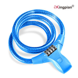 Digital Code Combination Cable Lock for Bike with LED pictures & photos