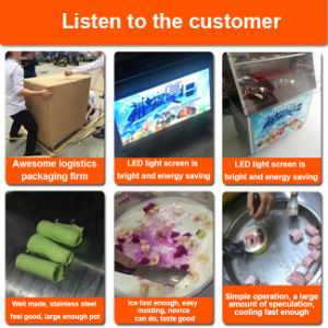 Commercial Flat Pan Stir Thailand Fry Ice Cream Machine pictures & photos