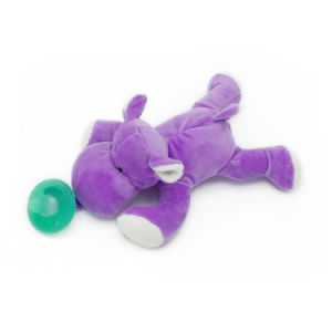 Plush Stuffed Hippo Pacifiers Baby Toys with Silicone Binky Teething Soother pictures & photos