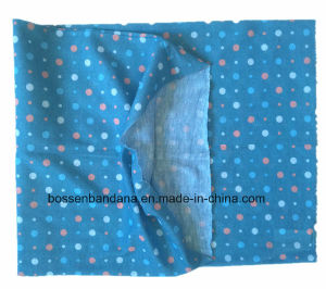 China Factory OEM Produce Polyester Multifunctional Outdoor Sports Girl′s Blue Neck Tube Buff Scarf pictures & photos