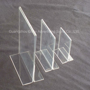 Acrylic Holder/Acrylic Brochure Holder/Acrylic Menu Holder for Sign pictures & photos