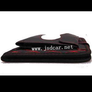 Wine Fiber Leather Double Car Tissue Box (JSD-P0019) pictures & photos
