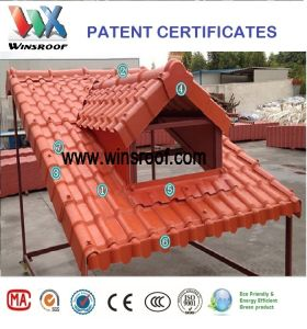 Wins PMMA/Asa Synthetic Resin Roof Tile for Living Houses pictures & photos