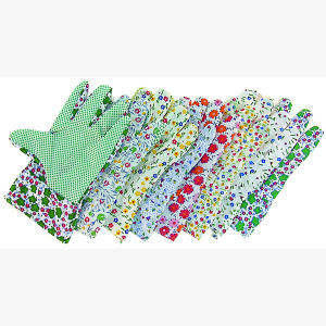 Economy Lady′s Garden Work Glove with PVC Dots on Palm pictures & photos
