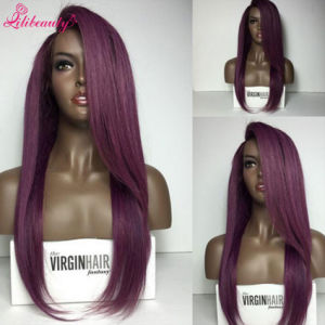 Straight Purple Lace Wigs with Baby Hair Glueless Purple Wigs pictures & photos
