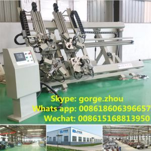 Automatic Aluminum Cutter with Double Mitre Blades pictures & photos