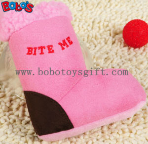 Pink Plush Boots Pet Dog Toy with Squeaker BOSW1080/15CM pictures & photos