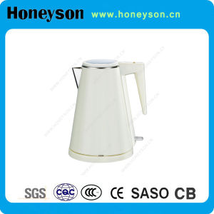 White Plastic Double-Shell Body Electric Kettle/Water Kettle pictures & photos