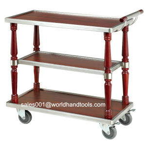 Three Layer Wood Service Cart pictures & photos