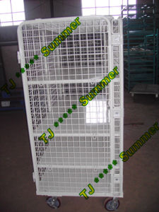Warehouse Storage Folding Wire Mesh Roll Container pictures & photos