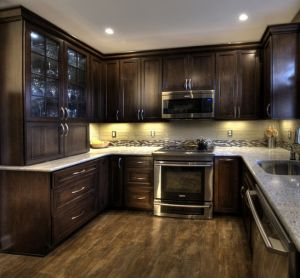 Espresso Kitchen Cabinet #30425 pictures & photos