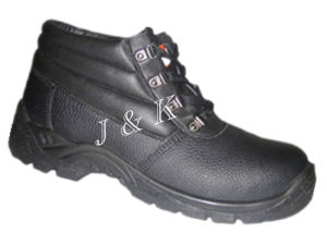 Safety Shoes Made of Cow Leather (JK46006) pictures & photos