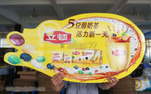 Custom Digital Printing Board With Die Cut Shape PVC panel Signs pictures & photos