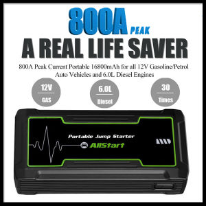 16800mAh 12V 800A Peak Current Power Bank Portable Car Jump Starter pictures & photos