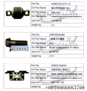 Sinotruk HOWO Truck Spare Part U-Bolt Ball Joint pictures & photos