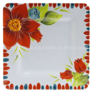 Square Melamine Dinner Plate (PT3489) pictures & photos