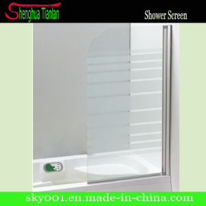 Good Price Simple Printed Glass Modern Bi Fold Shower Door (TL-422) pictures & photos