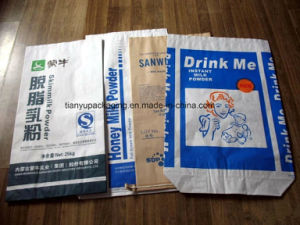 Waterproof Paper Packing Sewn Open Mouth Bags for Milk Powder pictures & photos