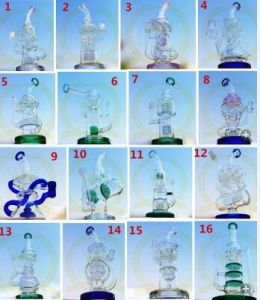 Flower Matrix Tall Bigger Recycler Tobacco Tall Color Bowl Mobius Glass Smoking Pipe with with Matrix Perc pictures & photos
