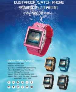 2014 OLED Resistive Touchscreen Bluetooth Watch Mobile Phone (MS011H-W838)
