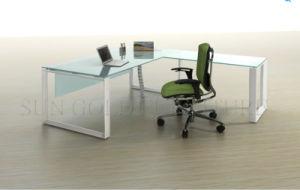 L Shape Elegant White Office Desk, Modern Desk (SZ-OD171) pictures & photos