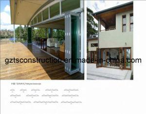 High Quality Double Glazed Pine Bifold Door&Pine Louvre Bifold Door (TS-024) pictures & photos
